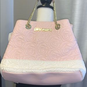 Betsey Johnson Rose Quilted Satchel